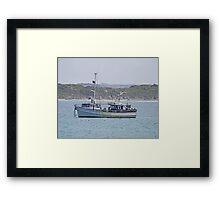 Anchored, Kangaroo Island, Australia Framed Print
