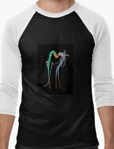 Fantasy photographic insence smoke image of Clubbers dancing Men's Baseball ¾ T-Shirt