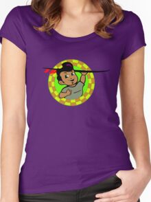 AMOK - retro surfer / surfboard Women's Fitted Scoop T-Shirt