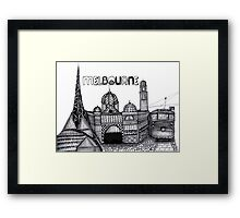 Melbourne in tangles  Framed Print
