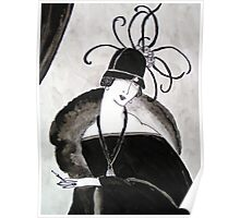 """""""*Ritzy"""" Roaring Twenties Lady with cloche Poster"""