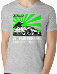 GTR LB Performance Green Mens V-Neck T-Shirt