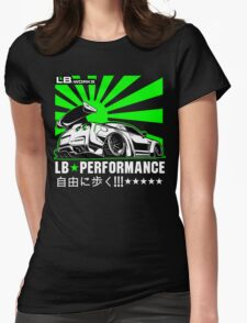GTR LB Performance Green Womens Fitted T-Shirt