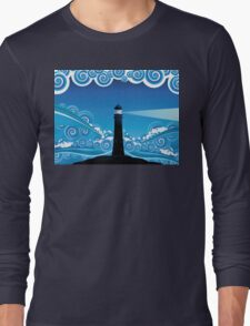 Lighthouse in the Sea 5 Long Sleeve T-Shirt