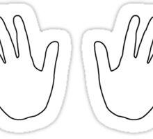 Colored Hands - set white Sticker