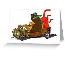 Lazy Luke and Blubber Bear Greeting Card