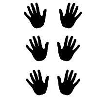 Colored Hands – set black Photographic Print