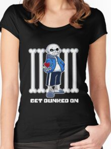 """Undertale - Sans """"Get Dunked On"""" Women's Fitted Scoop T-Shirt"""