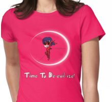 Time To De-evil-ize! Womens Fitted T-Shirt