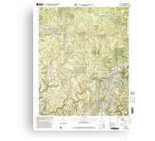 USGS TOPO Map Alabama AL Upshaw 305275 2000 24000 Canvas Print
