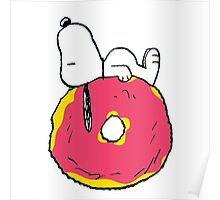 snoopy love donuts Poster