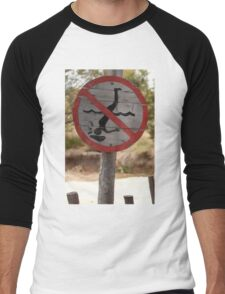 0841 No hitting the rocks with your head Men's Baseball ¾ T-Shirt