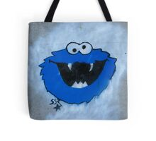 The Blue Fuzzy Monster Tote Bag