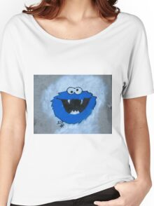 The Blue Fuzzy Monster Women's Relaxed Fit T-Shirt