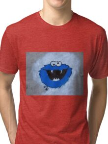 The Blue Fuzzy Monster Tri-blend T-Shirt