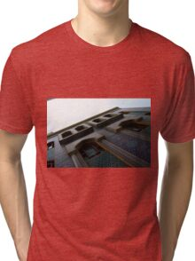 Muslin mosque facade with decorative mosaic. Tri-blend T-Shirt