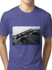 Muslin mosque facade with decorative mosaic. Tri-blend T-Shirt