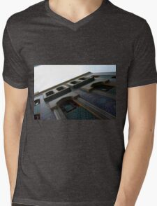 Muslin mosque facade with decorative mosaic. Mens V-Neck T-Shirt