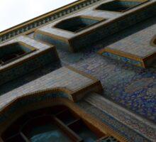 Muslin mosque facade with decorative mosaic. Sticker