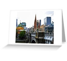 Melbourne City View Greeting Card