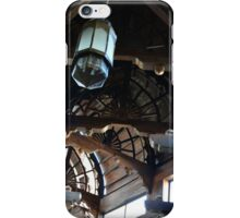Wooden arches with light pennants.  iPhone Case/Skin