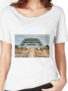 0610 The Great Stupa of Universal Compassion [r] Women's Relaxed Fit T-Shirt