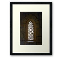Window with Arabic decorations. Framed Print