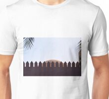 Decorative fence in front of a cupola. Unisex T-Shirt
