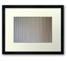 Beige tapestry with vertical stripes.  Framed Print