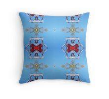Red Patterns in the Sky Throw Pillow