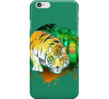 Tiger Pounce  Grunge iPhone Case/Skin
