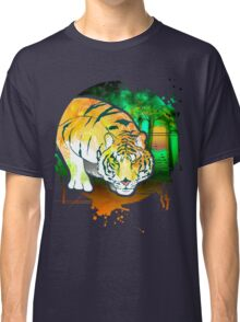 Tiger Pounce  Grunge Classic T-Shirt