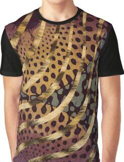Cheetah Ankara Pattern Swirl-Sunset  Graphic T-Shirt