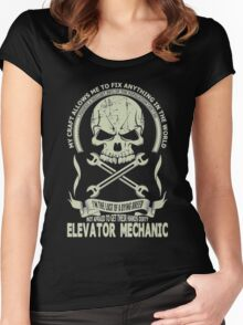 I'm the last of a dying breed elevator mechanic Women's Fitted Scoop T-Shirt