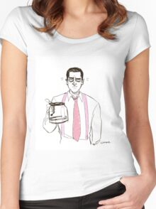 Barba and the empty coffee pot Women's Fitted Scoop T-Shirt