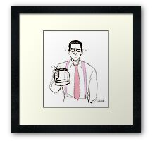 Barba and the empty coffee pot Framed Print