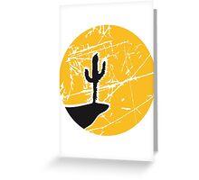 cool pattern sun night moon cliff mountainside werewolf cactus sunset full moon desert canyon cactus Greeting Card