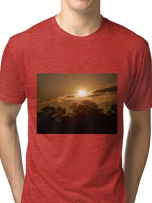 Sunrise through the clouds Tri-blend T-Shirt