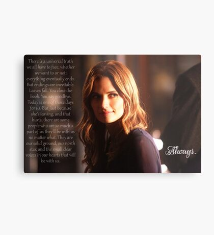 Kate Beckett Metal Print