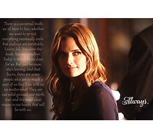 Kate Beckett Photographic Print