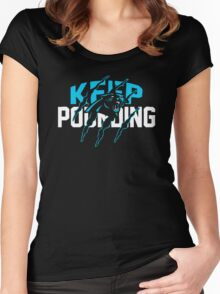 Keep Pounding Cam Newton Women's Fitted Scoop T-Shirt