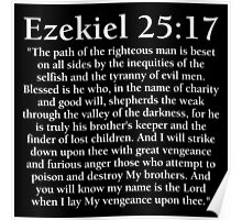 Ezekiel 25:17 - Full Passage Poster