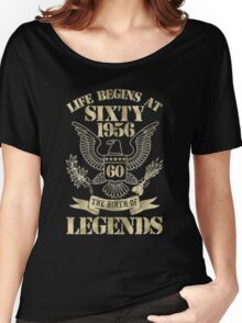 Life begins at sixty-1956 Women's Relaxed Fit T-Shirt