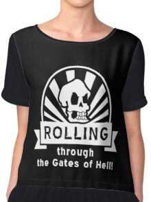 ROLLING through the Gates of Hell! (Murray - Monkey Island 3) Chiffon Top