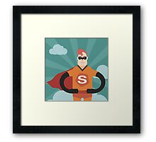 Super hero Framed Print