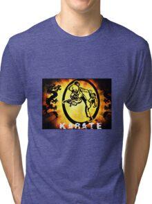 空手 Karate Tri-blend T-Shirt