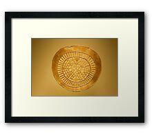Golden Pre-Columbian figure Framed Print