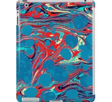 Psychedelic Blue Red Marbled Paper iPad Case/Skin