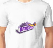 Dragon Fire Hockey Stick Basketball Retro Unisex T-Shirt