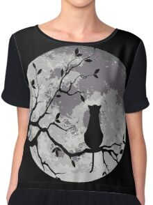 The Cat And The Moon Chiffon Top